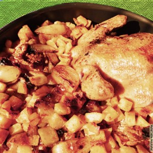 roasted chicken & potatoes1