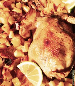 roasted chicken & potatoes2