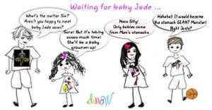 waiting for baby Jade